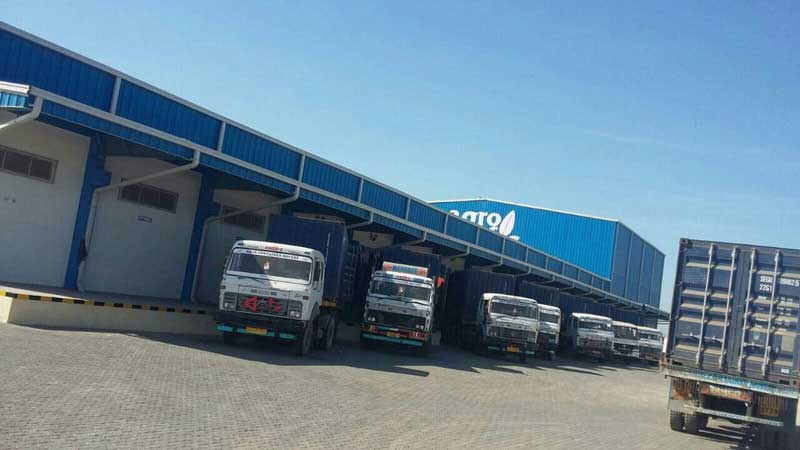 Standby trucks for loading peanuts