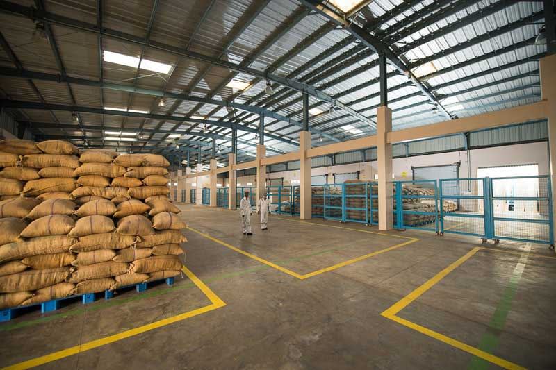 storage space at Gujarat factory
